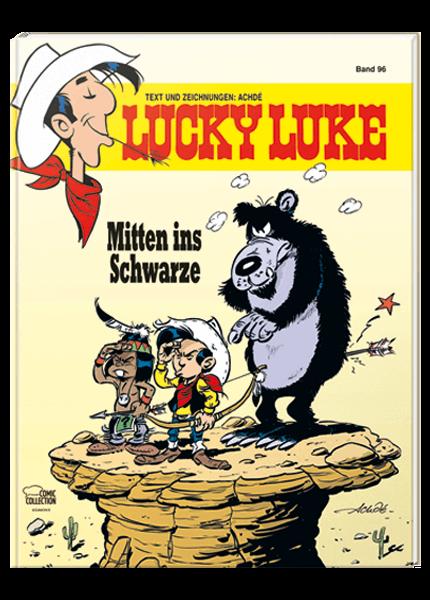 Das Cover des Taschenbuchs Lucky Luke Mitten ins Schwarze
