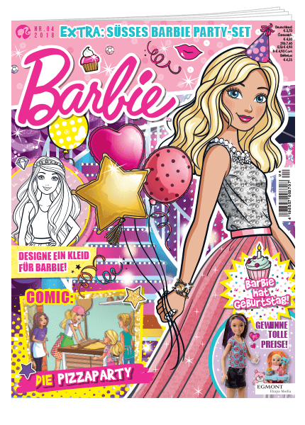 Das Cover vom Barbie Magazin erschienen bei Egmont Publishing
