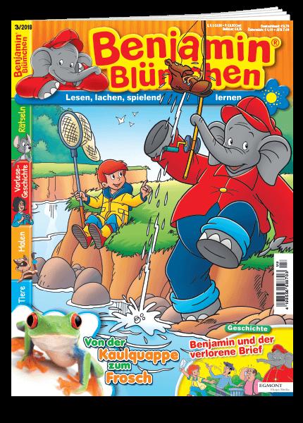 Das Cover vom Magazin Benjamin Blümchen erschienen bei Egmont Publishing