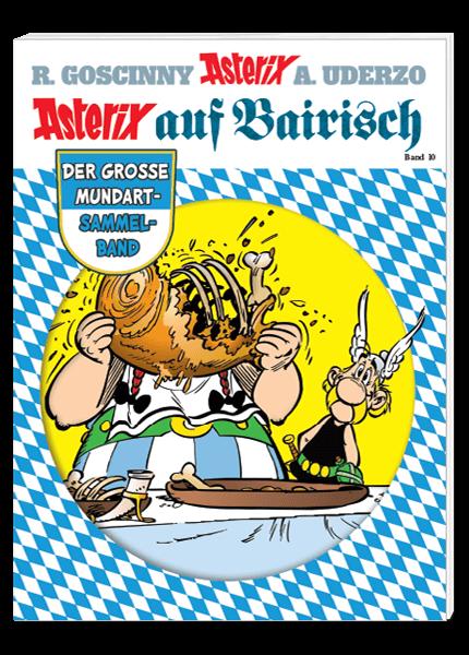 Das Cover des Taschenbuchs Asterix auf Bairisch