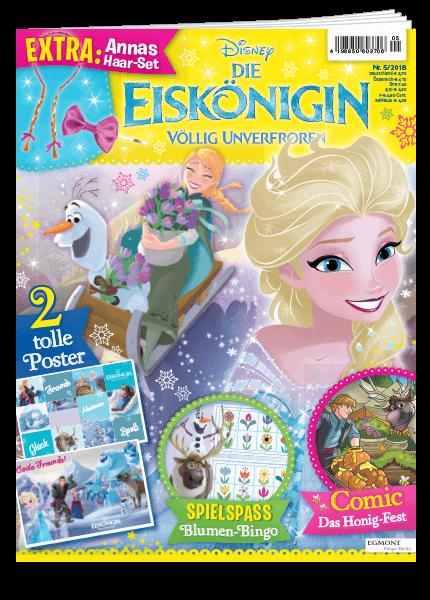 Das Cover vom Magazin Die Eiskönigin erschienen bei Egmont Publishing
