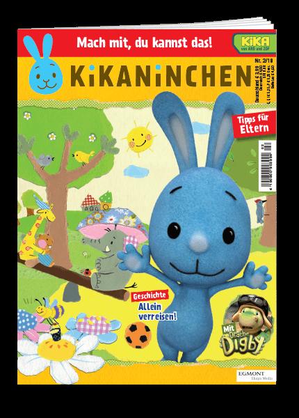 Das Cover vom Magazin Kikaninchen erschienen bei Egmont Publishing