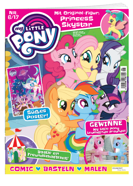 Das Cover vom My Little Pony Magazin erschienen bei Egmont Publishing