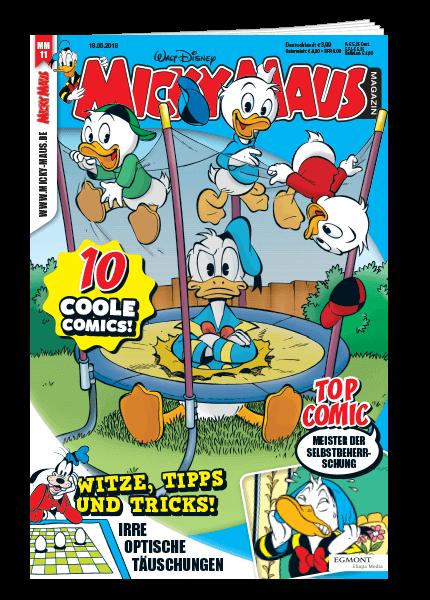 Das Cover vom Micky Maus Magazin erschienen bei Egmont Publishing