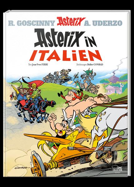 Das Cover des Buches Asterix in Italien
