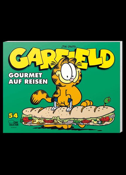 Das Cover des Taschenbuchs Garfield auf Reisen aus der Comic Collection