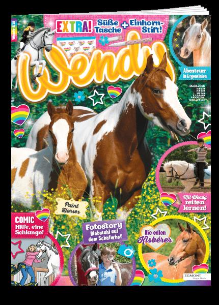 Das Cover vom Magazin Wendy erschienen bei Egmont Publishing