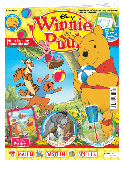 Das Cover vom Winnie Puuh Magazin erschienen bei Egmont Publishing