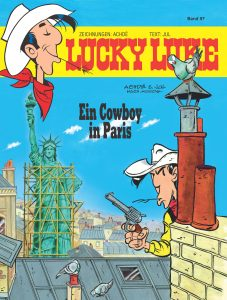"Cover des Lucky Luke Bandes 97 ""Ein Cowboy in Paris"" Copyright 2018 Lucky Comics"