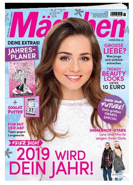 Das Cover vom Mädchen Magazin erschienen bei Egmont Publishing