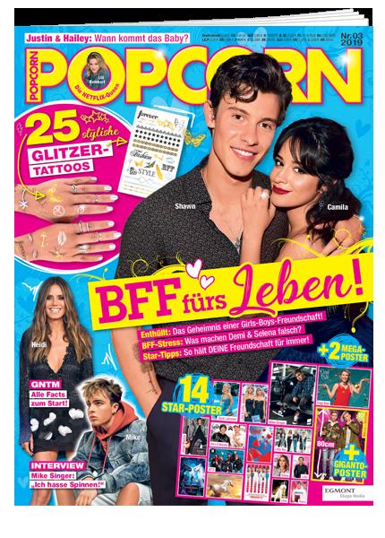 Das Cover vom Magazin Popcorn erschienen bei Egmont Publishing