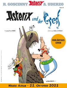 """vorläufiges Cover des 39. Albums """"Asterix und der Greif"""""""